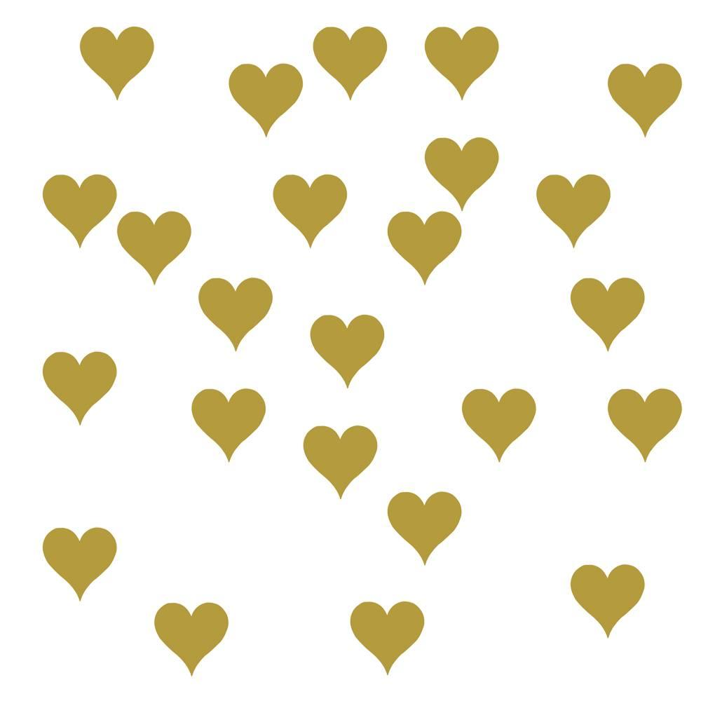 Muurstickers kinderkamer hartjes goud  Kidzsupplies