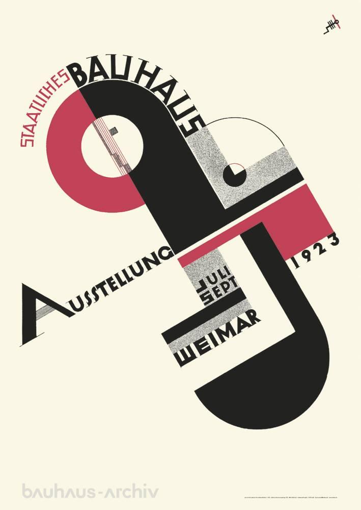 poster joost schmidt  plakat zur bauhausausstellung 1923  bauhausshop  bauhausshop