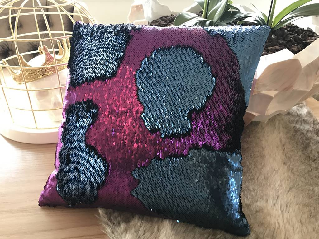 excellent interesting mermaid kussen purple rain with