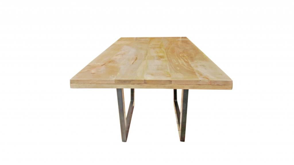 Tisch Mit Metallgestell Und Holzplatte kleine konsole mit