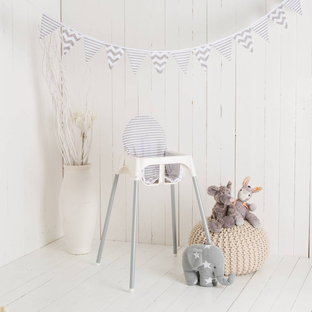 stokke high chair baby bunting that hangs from the ceiling highchair cushion quotchevron stripes puckdaddy nursery