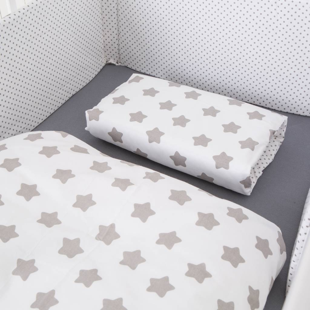 stokke high chair baby bunting bankers cushion crib bedding set quotdots stars white quot buy online at