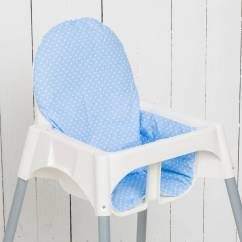 Stokke High Chair Baby Bunting Plumbs Dining Room Covers Highchair Cushion Quotdots Lightblue Quot Nursery Furniture
