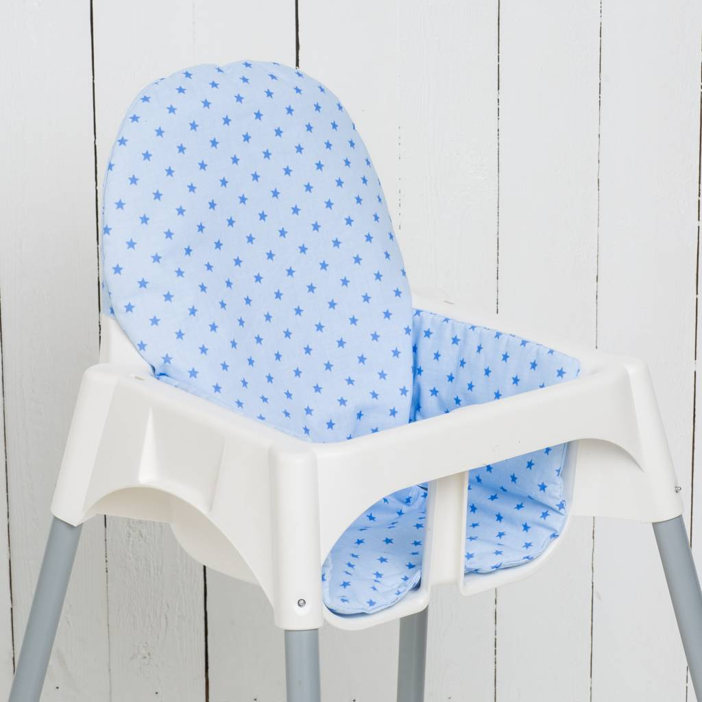 stokke high chair baby bunting bar size highchair cushion quotstars lightblue quot nursery furniture