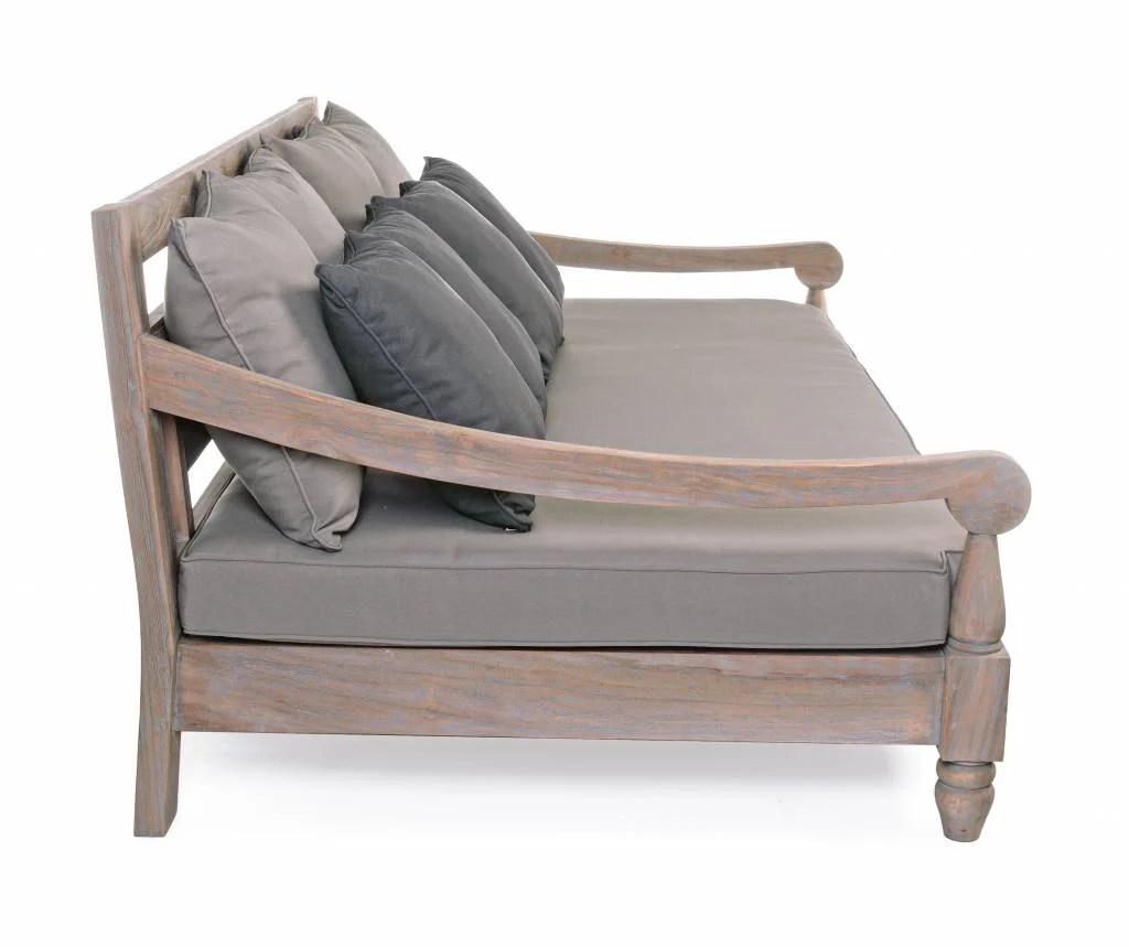 bali sofa lounger fold out mattress bed lounge outdoor gartenlounge teak holz fsc