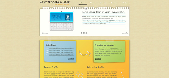 Paper Made Website CSS Template
