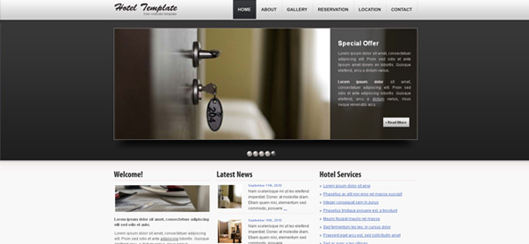 Free Website CSS Template for Hotels and Restaurants