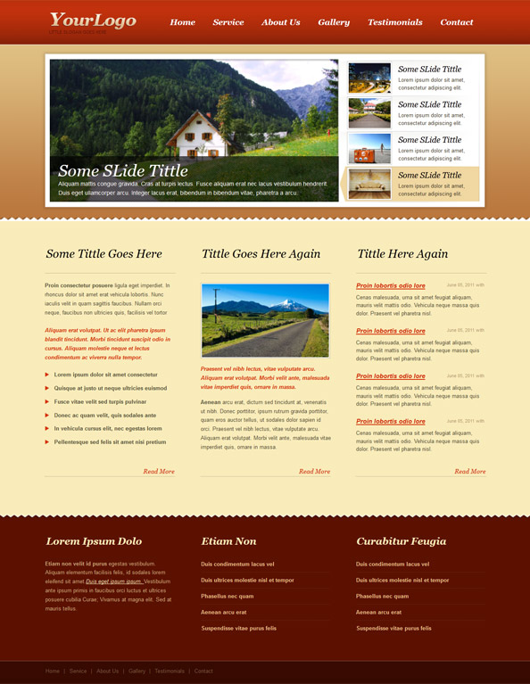 Free website css template with nice jquery slider carousel for Free blogger templates with slider