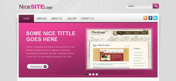 pink website css template website css templates