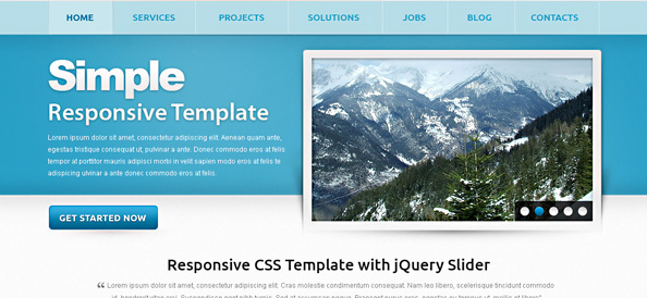 Free Responsive Template – Simple