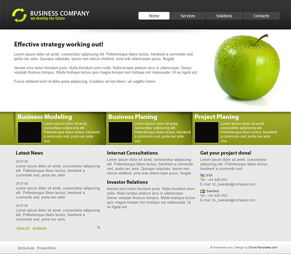 Business website template website css templates the latest business website template from chocotemplates features great typography warm color scheme and eye catchy effects accmission Gallery