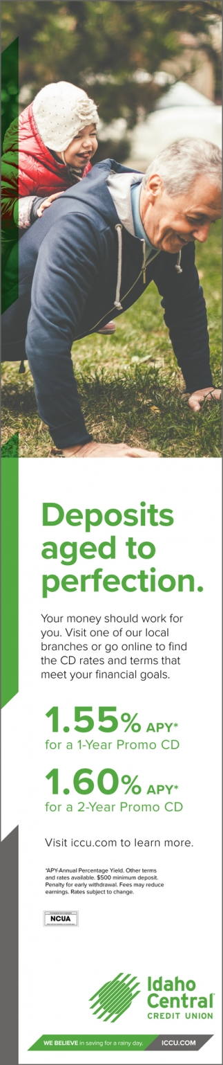 Idaho Central Credit Union Cd Rates : idaho, central, credit, union, rates, Deposits, Perfection,, Idaho, Central, Credit, Union,, Falls,