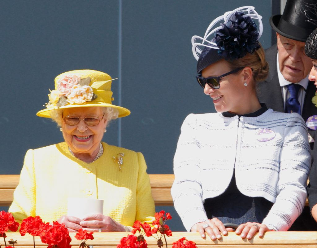 ASCOT, UNITED KINGDOM - JUNE 19: (EMBARGOED FOR PUBLICATION IN UK NEWSPAPERS UNTIL 48 HOURS AFTER CREATE DATE AND TIME) Queen Elizabeth II and Zara Phillips attend day 4 of Royal Ascot at Ascot Racecourse on June 19, 2015 in Ascot, England.