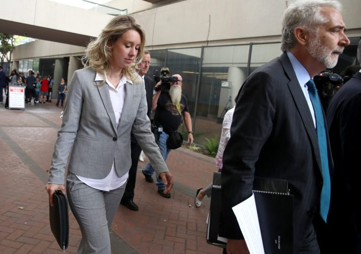 Former Theranos founder and CEO Elizabeth Holmes leaves the Robert F. Peckham U.S. Federal Court on June 28, 2019 in San Jose, California.