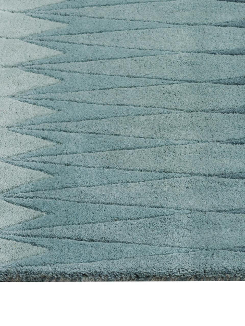 tapis design pure laine bleu beige acacia