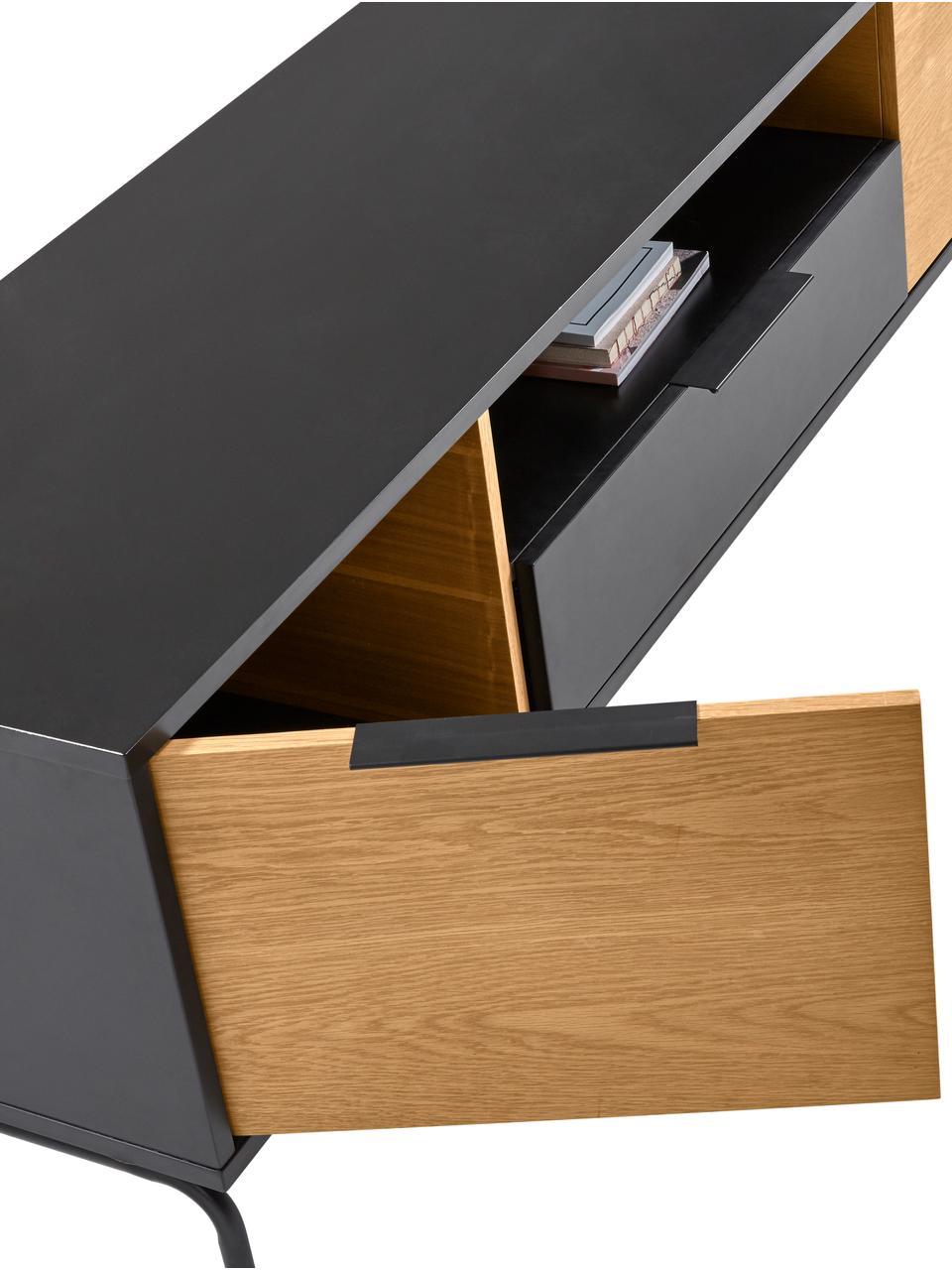meuble tv noir stellar