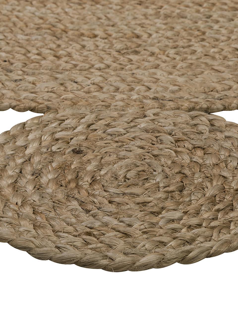 tapis rond beige en jute fait main niago