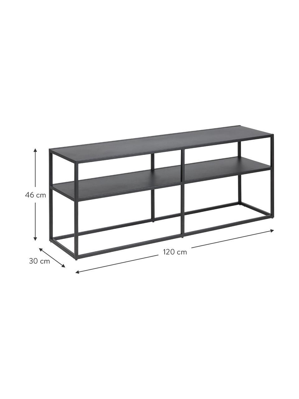 meuble tv metal noir newton