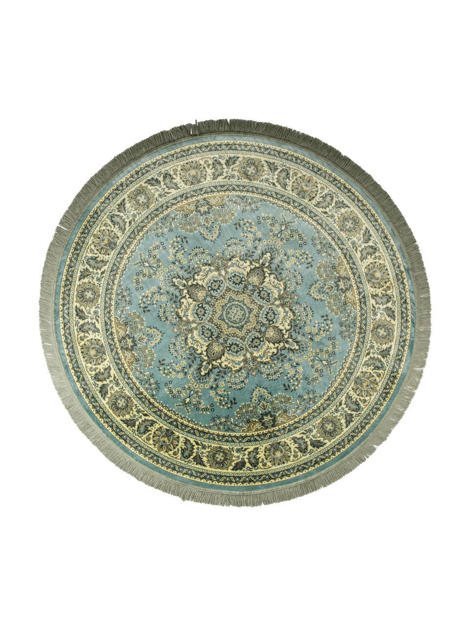 https www westwingnow fr tapis rond vintage en vert a franges bodega 117813 html