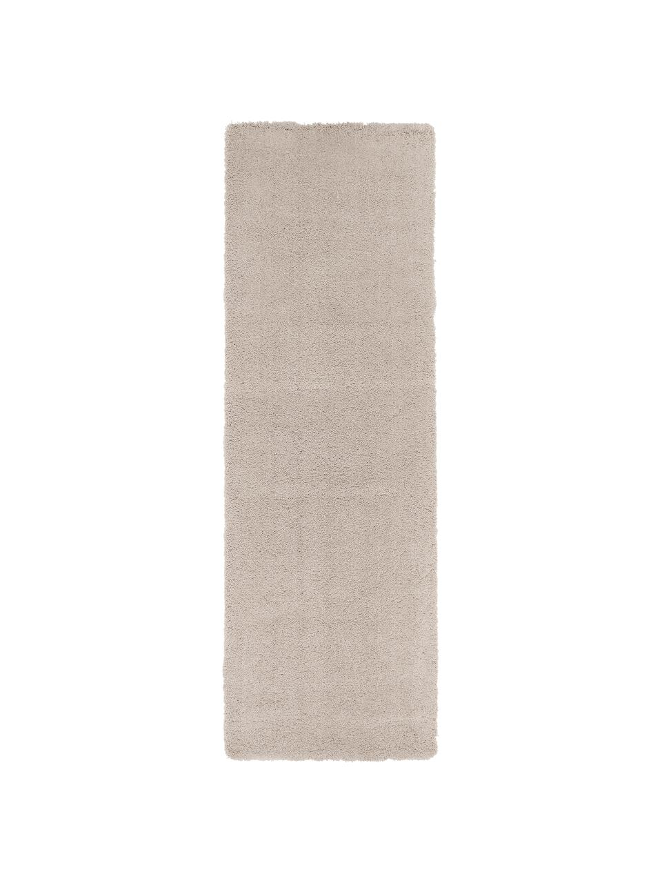 tapis de couloir a longs poils beige leighton