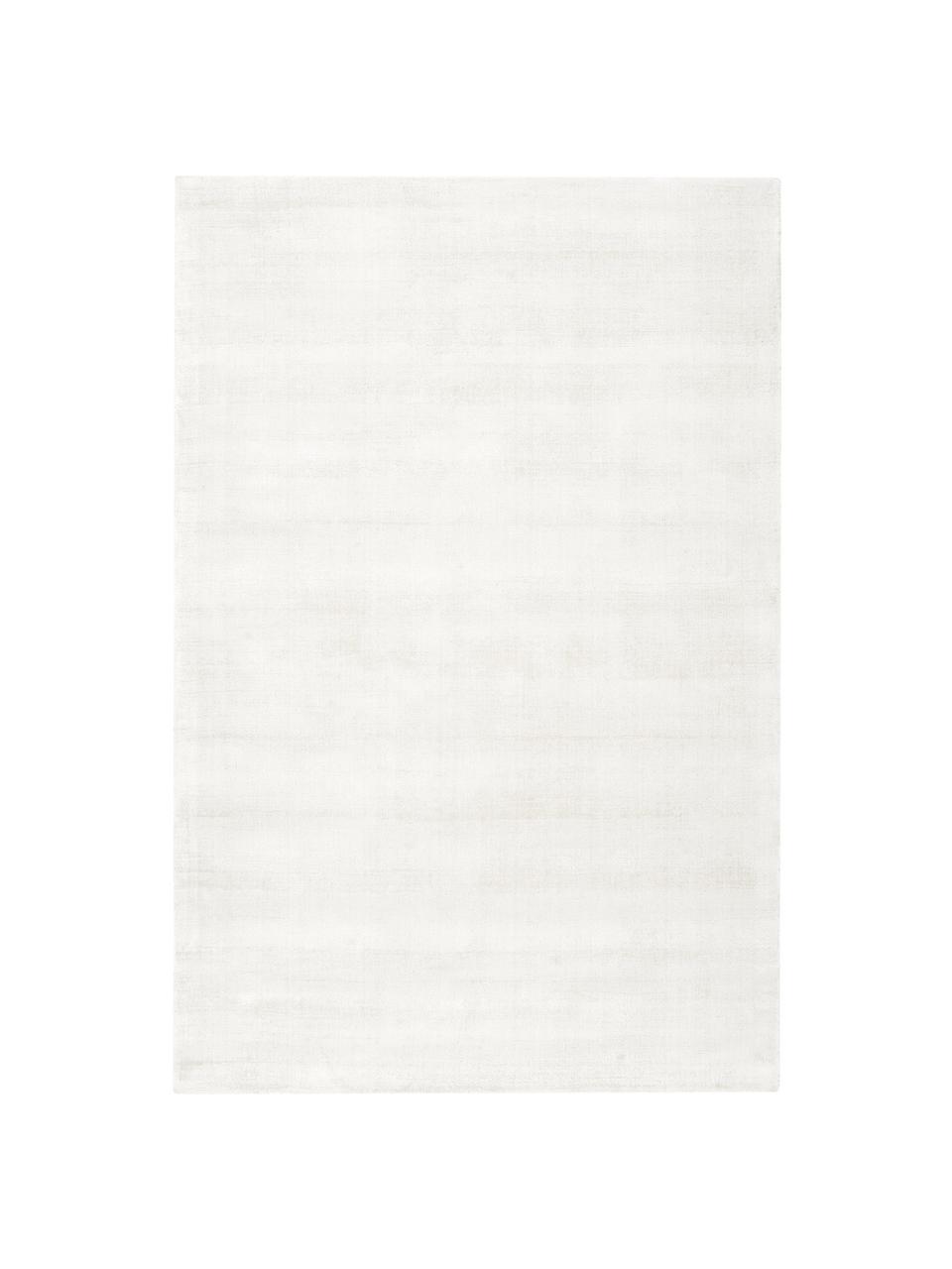 tapis blanc ivoire en viscose tisse main jane