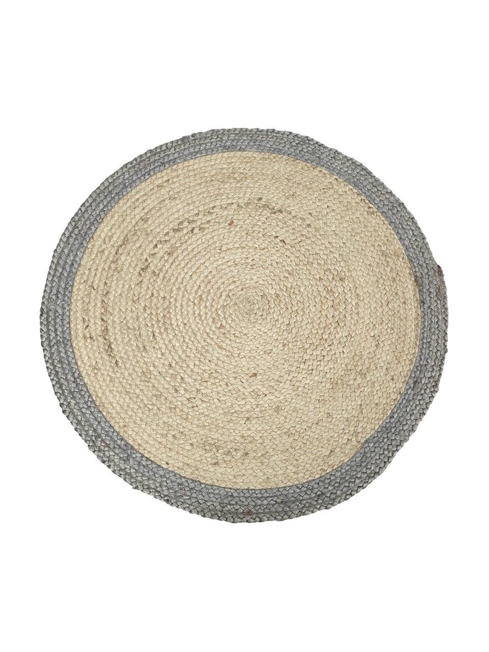 tapis rond en jute fait main shanta