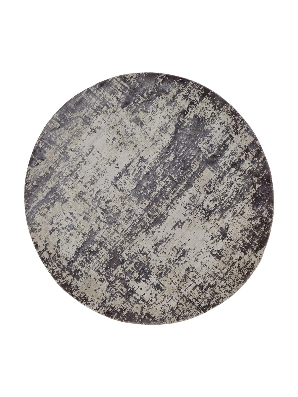 tapis rond vintage gris cordoba