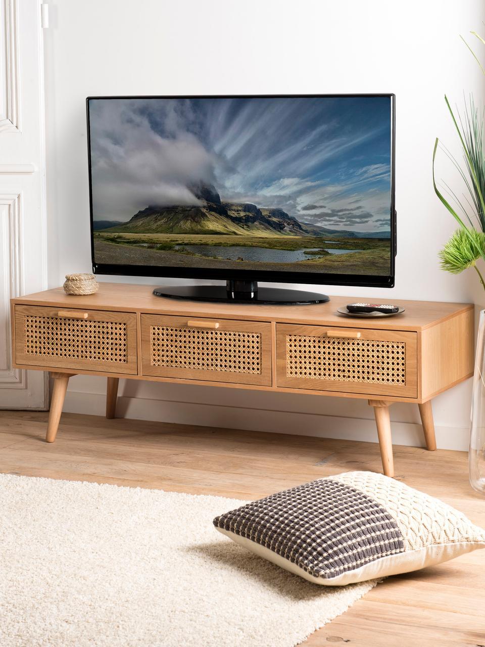 meuble tv avec cannage romeo
