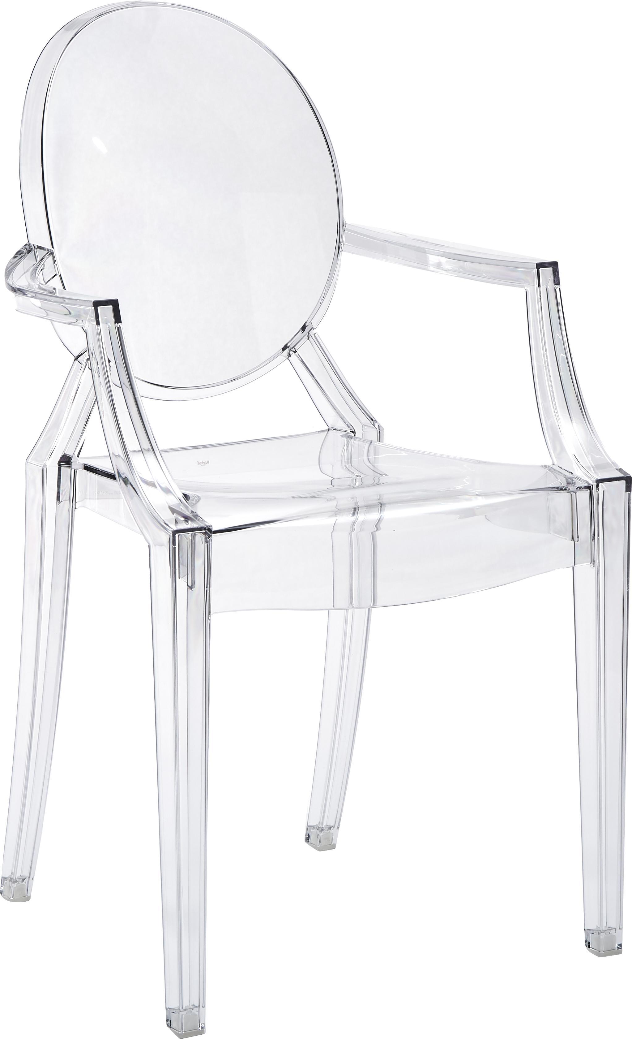 chaise transparente en plastique louis