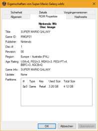 ROM Properties Wii