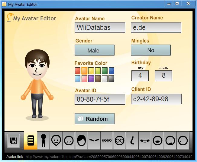 My Avatar Editor | WiiDatabase