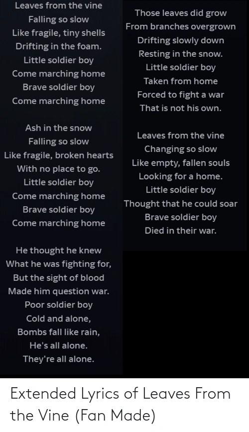 Brave Little Soldier Boy : brave, little, soldier, What's, Favorite, Episode, Fandom