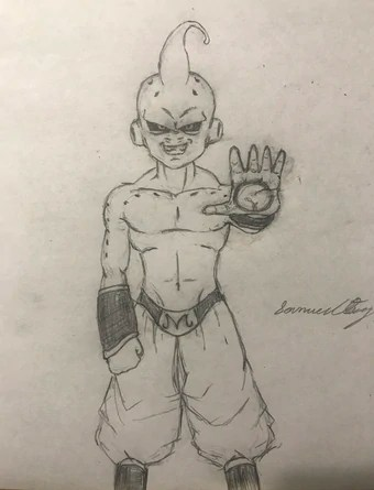 Kid Buu Drawing : drawing, Blog:Sosuagwu17/Kid, Drawn, Sosuagwu17, Dragon, Fandom