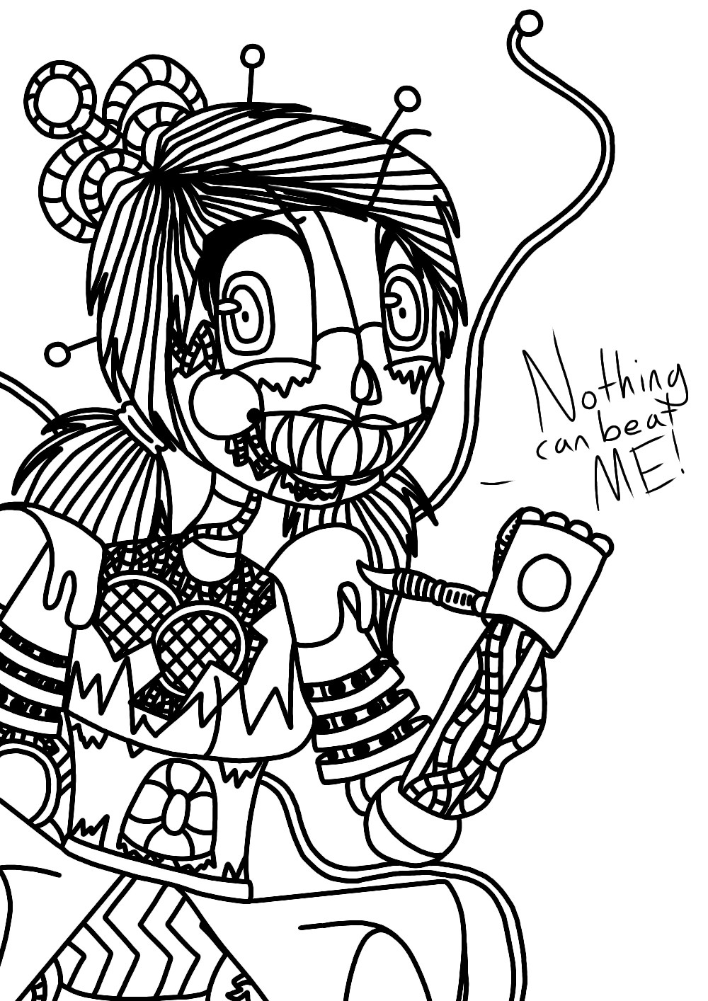 Fnaf Baby Coloring Pages : coloring, pages, Cuphead, Styled, Scrap, Coloring, Page!, Fandom