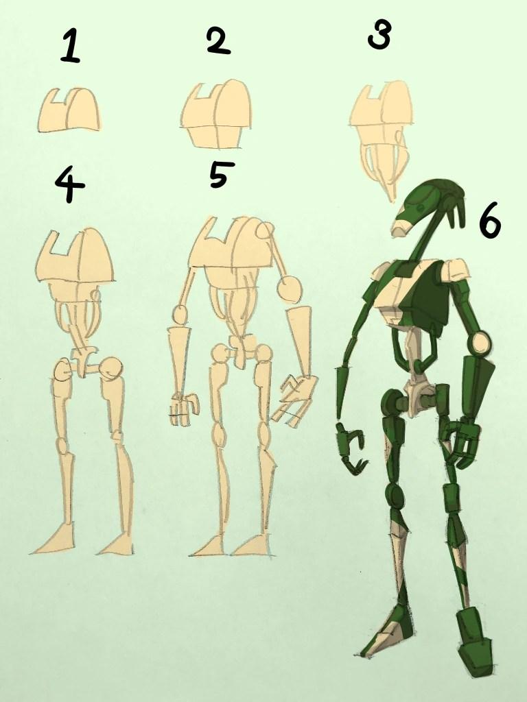 How To Draw A Battle Droid : battle, droid, Battle, Droid, Fandom