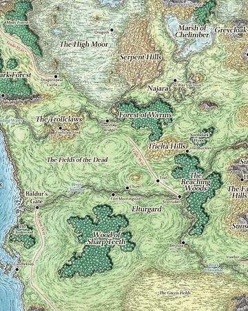 Faer�n Map : faer�n, Western, Heartlands, Forgotten, Realms, Fandom