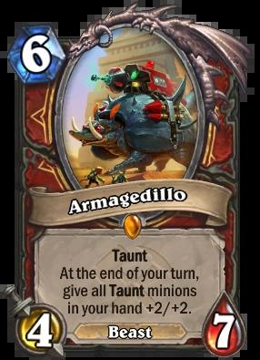 New Legendary Card Revealed - Armagedillo - News - HearthPwn