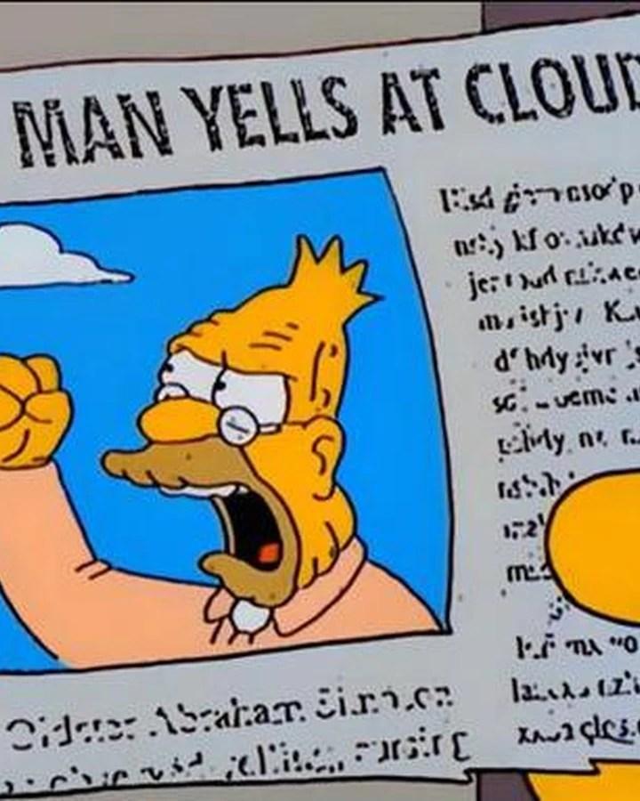 Old Man Yells At Cloud Meme : yells, cloud, Yells, Cloud, Memepedia, Fandom