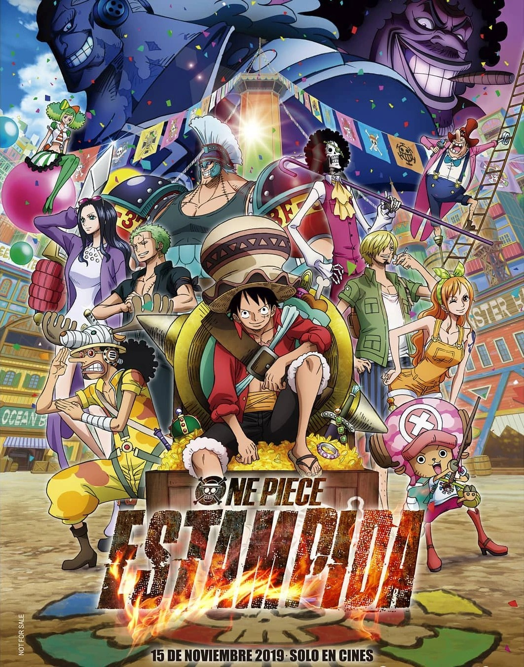 Luffy and his pirate crew in order to find the greatest treasure ever left by the legendary pirate, gold roger. One Piece Stampede One Piece Wiki Fandom