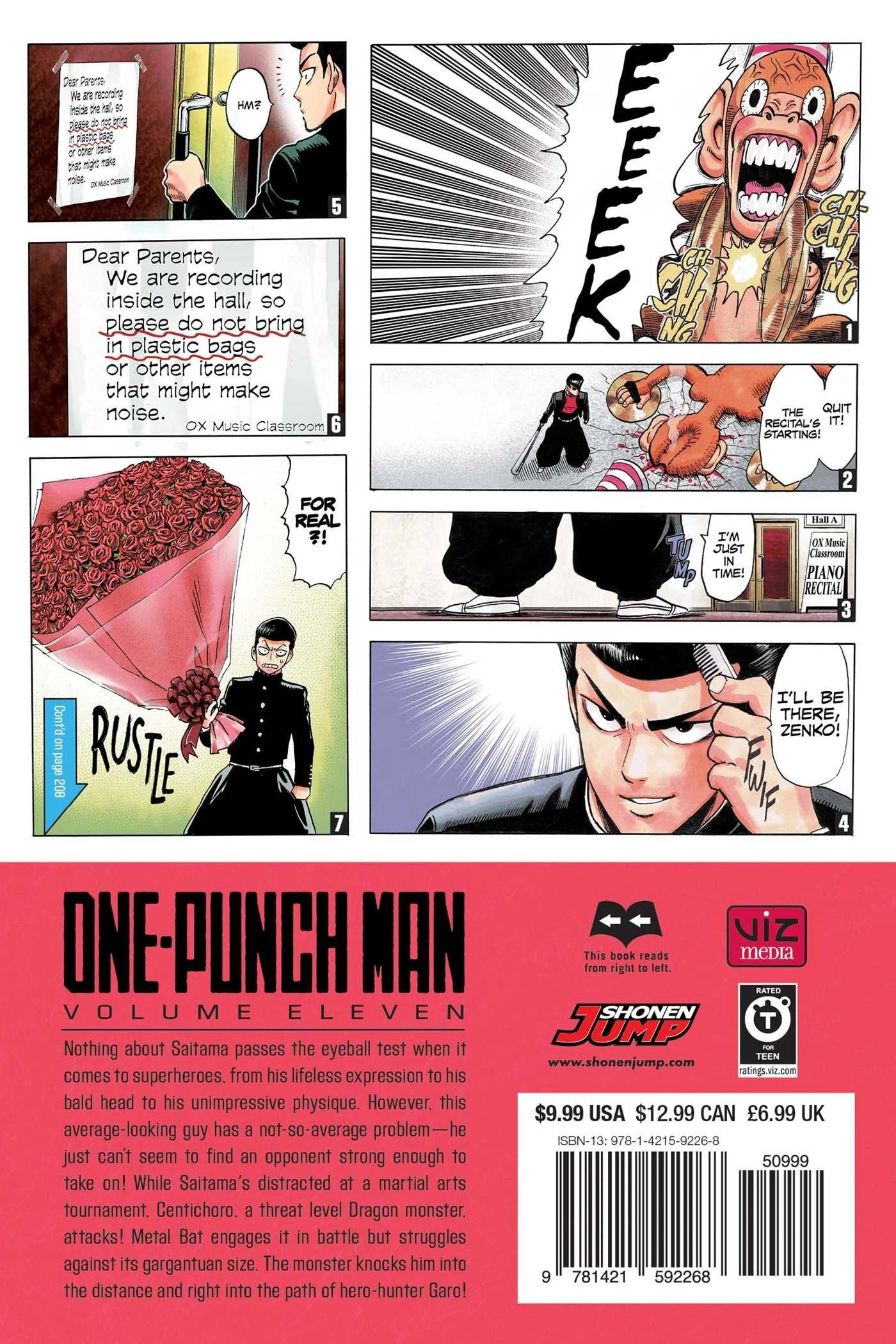 One Punch Man Tome 11 : punch, Volume, One-Punch, Fandom