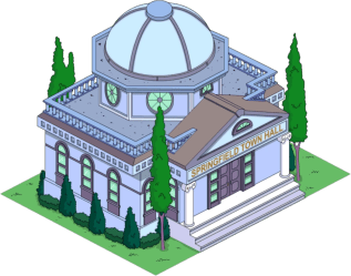 Town Hall The Simpsons: Tapped Out Wiki Fandom