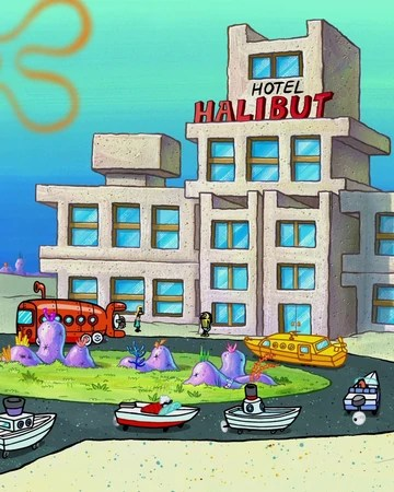 Spongebob Hotel : spongebob, hotel, Hotel, Halibut, Encyclopedia, SpongeBobia, Fandom