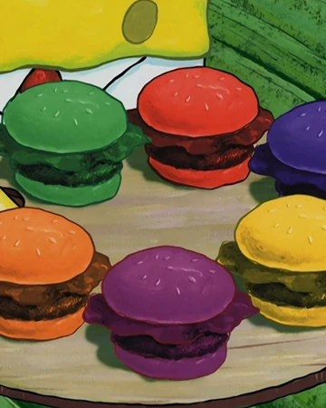 Colored Krabby Patties : colored, krabby, patties, Pretty, Patty, Encyclopedia, SpongeBobia, Fandom