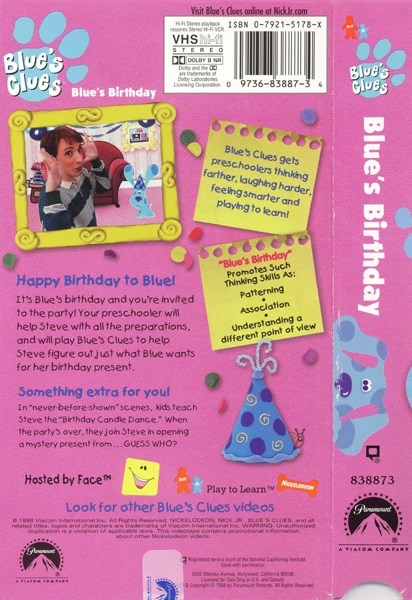 Blue's Clues Birthday : blue's, clues, birthday, Blue's, Birthday, (VHS), Clues, Fandom