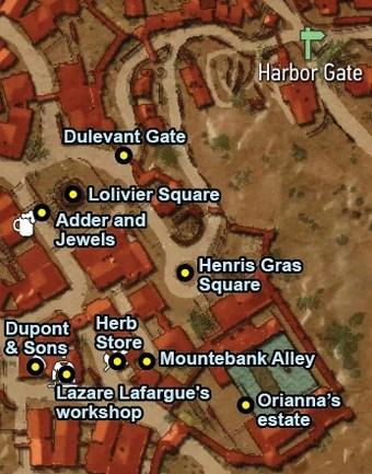 Blood And Wine Map : blood, Lazare, Lafargue's, Workshop, Witcher, Fandom
