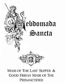 pre-1955 Holy Week propers, Tenebrae, Fortescue