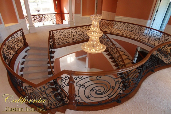 Iron Beauty Grand Excellence | The Iron Shop Stairs | Staircase Kits | Broomall Pennsylvania | Handrail | Lowes | Stair Railing