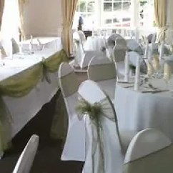 Chair Cover Hire Evesham White Resin Chairs Wedding Reception Packages Covers Venue Decoration And Sashes