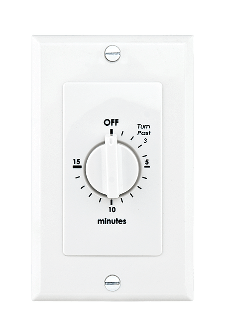 In-Wall Timers, WB Series, WB015W White