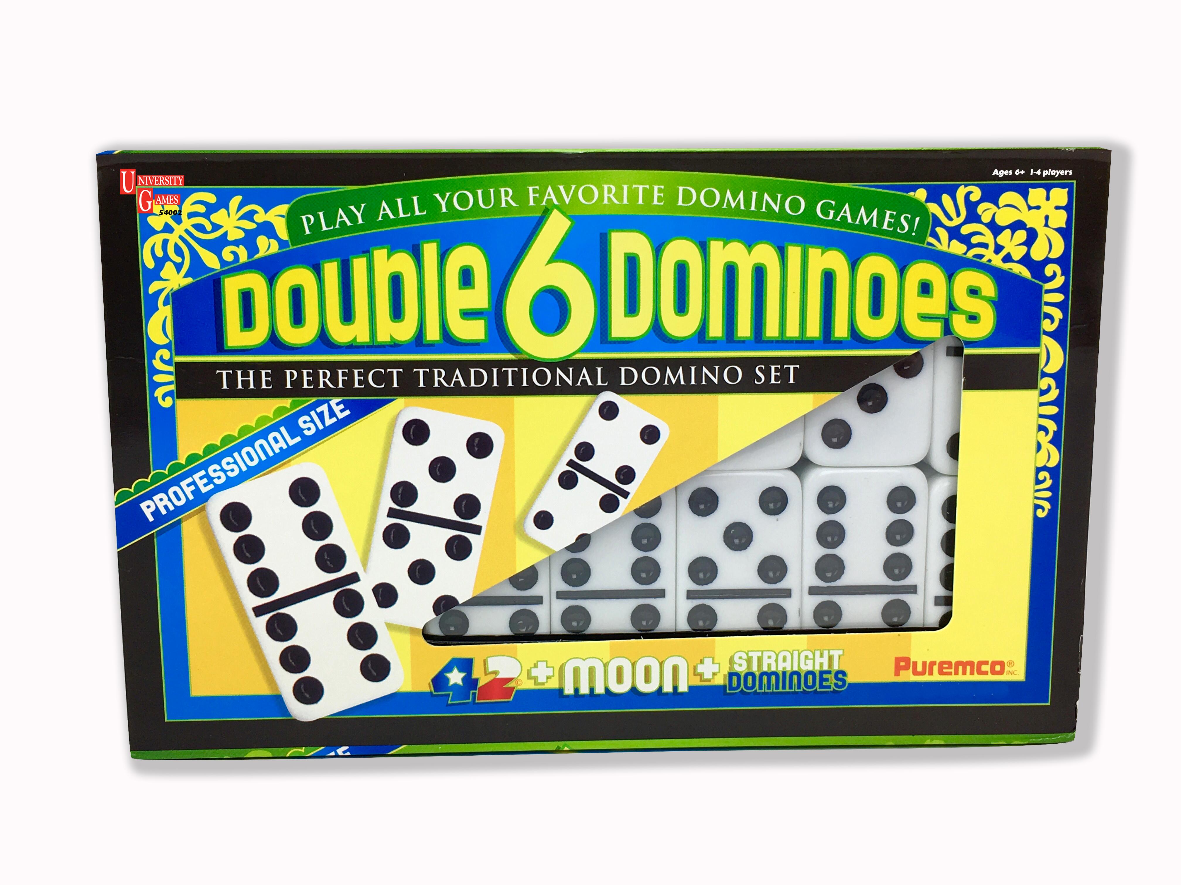 Double 6 Black Dot Dominoes   University Games